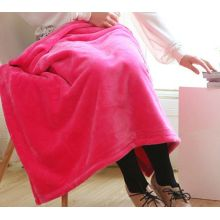 Diskon Solid Color Coral Fleece Blanket Throw