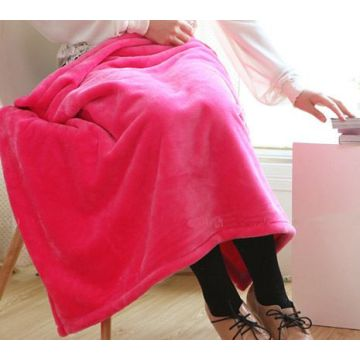 Rabatt Solid Color Coral Fleece Blanket Throw