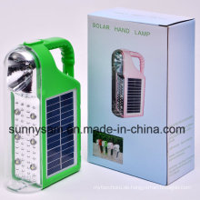 Multifunktions Camping LED Solar Laterne mit Solar-und AC-Ladegerät
