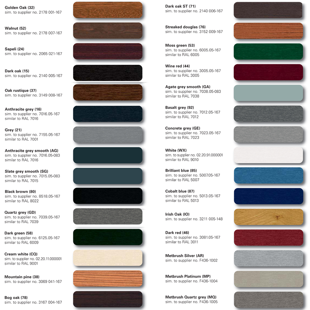 Wood grain Door Colors