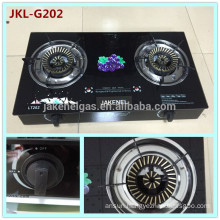 tempered glass top double burner gas stove, gas cooker