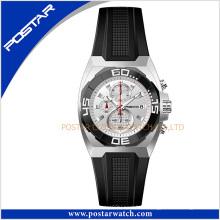 Psd-2344 Fashion Classic Quartz reloj de pulsera con correa de cuero genuino