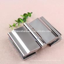 Design glass to glass 180 degree brass material glass door pvoit hinge