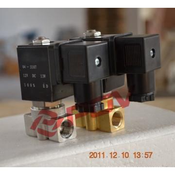 Piloto normalmente fechada válvula de solenóide de alta pressão 24v dc de gás