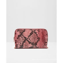 Hot Sell Fashion Snake PU Leather Ladies Cosmetic Bag