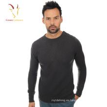 Jersey de jersey con cuello redondo Merino Wool Knitted para hombre