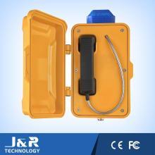 Teléfono GSM, teléfono montado en la pared, teléfono resistente a la intemperie de alta calidad con LED