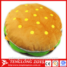 yangzhou factory stuffed plush hamburger toy, hamburger plush toy