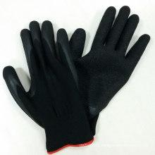13G Polyester Gloves Latex Coated Gloves Safety Work Gloves