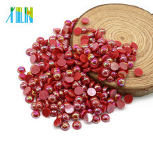 Manufacturer Supply Flatback ABS Pearl Nail Art Plastic Pearls Beads for Wedding Dress, A1-Lt.siam AB