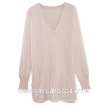 15STC3003 v neck cashmere tunic