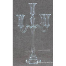 Glass Candle Holder for Party Decoration with Three Poster