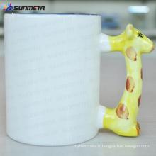 Sublimation tasse blanche animée cerf