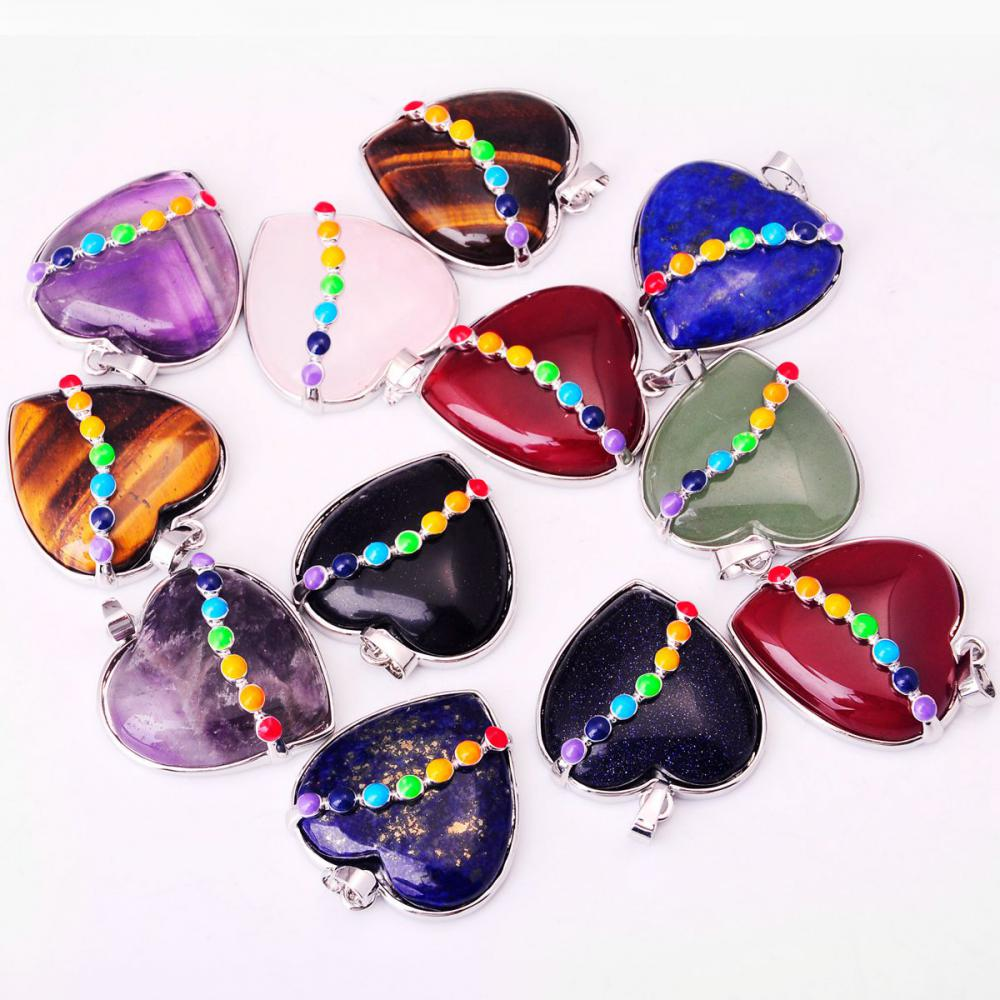 00SP0171-1 HEART GEMSTONE PENDANT