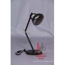Lámpara de mesa ajustable de metal redondo industrial