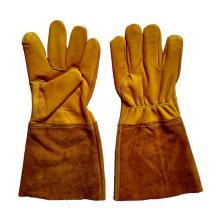 Золотая защитная корова Зерновая кожа TIG Сварочные перчатки