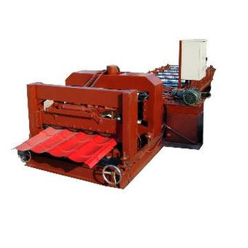 Full Auto Galvanized Steel Glazed Tile Roll Forming Machine