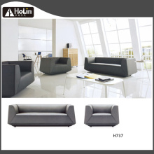 Three Seats Leather Office Sofa Set