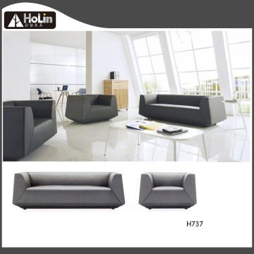 Conjunto de sofás de oficina de cuero de tres asientos