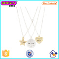 Best Friends Love, Peace and Joy Pendant Tag Necklaces #Scn02