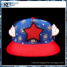 custom embroidery kids snapback cap with wings