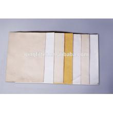 No tejido de fieltro de aguja bolsa de filtro de calcetines uso de filtración industrial