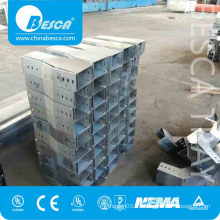 50MM - 150MM Metal Box Cable Trunking With Lid CE UL Certificated