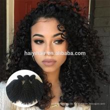 Heiße verkaufende Jungfrau-Menschenhaar-Jungfrau-indisches graues Haar natürlich gelockt