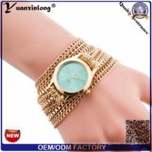 Yxl-416 relógios casuais vestido senhoras quartzo tecer em torno de cinta relógio de pulso vogue senhora relógio de pulso