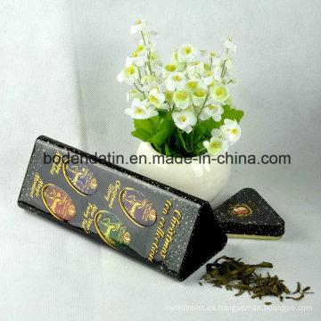 Caja de la lata del regalo del té del metal de encargo, lata de té del metal, lata de estaño cuadrada