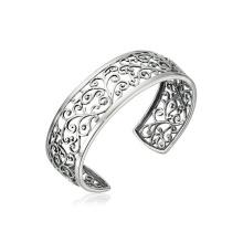 Venta al por mayor pulsera de puntada filigrana de plata esterlina con rodio plateado
