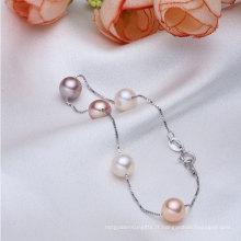 925sterling Silver Aaaa Bracelet à perles cultivées en eau douce de 7-8mm Round