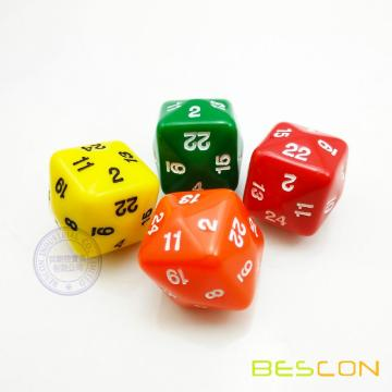 Colorful 24 Sided Polyhedral Game Dice