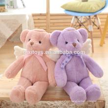 Custom Cute Stuffed Plush Angel Teddy Bear with Wings