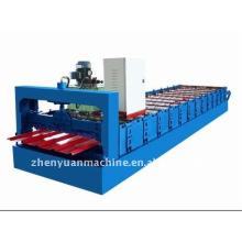 Fabricação de folhas de telha Máquina formadora de rolo