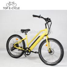 500W 8Fun bafang arrière moteur ebike 7-spd électrique plage cruiser vélo 26 pouces dame e vélo