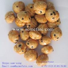 Delicioso desayuno saludable bocadillo crocante recubierto cacahuetes