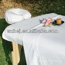 White cotton massage pillow