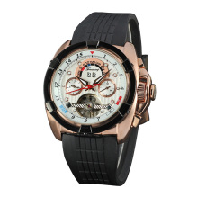 Mineral Glass Casual Auto Date Montre Homme