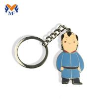 Image de porte-clés de forme humaine personnalisée en alliage de zinc