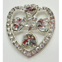 2013 New Heart Design Rhinestone Alloy Lady Shoe Buckle