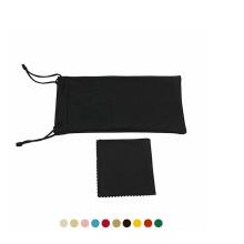 wholesale design your own logo portable drawstring glasses bag felt soft sunglasses pouch
