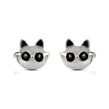 2016 Lovely Animals Mr.Black personnalisé boucles d'oreilles en or boucles d'oreille en opale