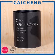 Customized high quality cylinder kraft paper storage box