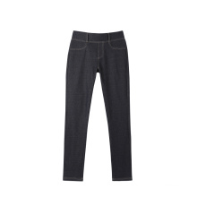 New Arrival Fashion Knitted Denim Long Skinny Plain Stretch Pants For Women