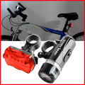 New Waterproof 5 LED Lamp Bike Bicycle Front Head Light + Rear Safety Flashlight