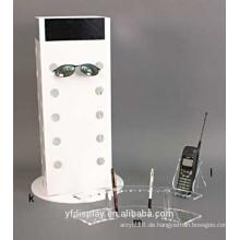 Hoher klarer Acrylsonnenbrillen-Präsentationsständer für Verkauf