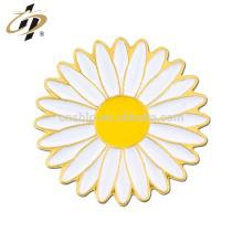 Shuanghua custom metal sunflower metal lapel pin for souvenir