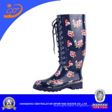 Women New Style Rubber Boots with Lace