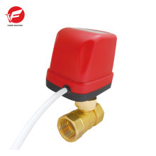 Motorized water automatic shut off hydraulic valve directional control